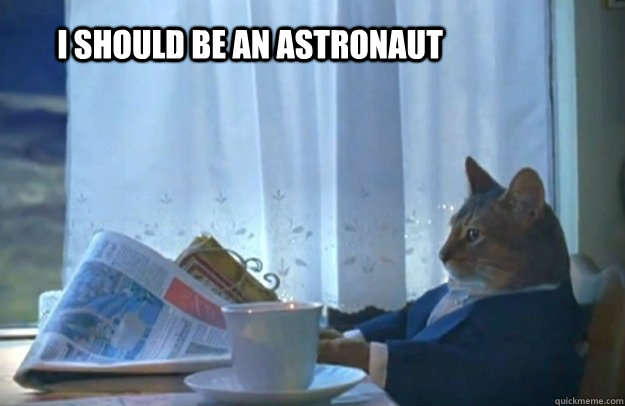 i should be an astronaut - Sophisticated Cat