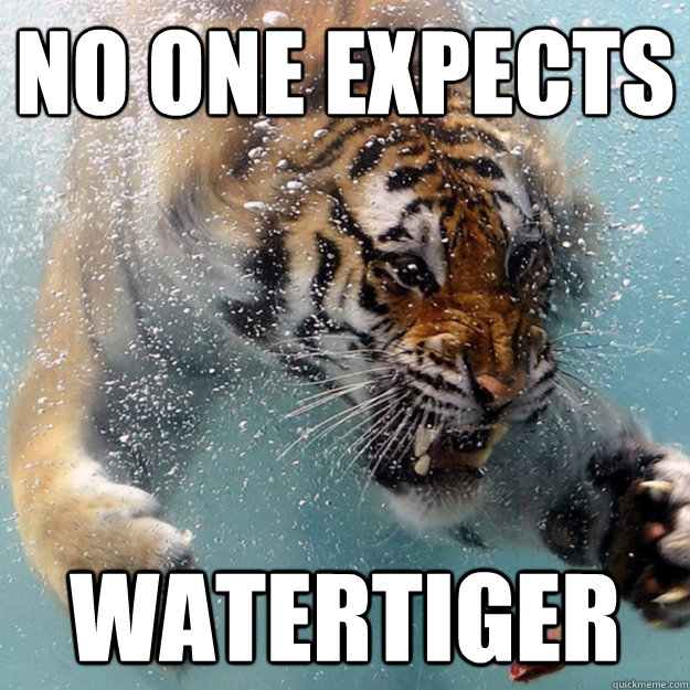 no one expects watertiger - Surpriiise!