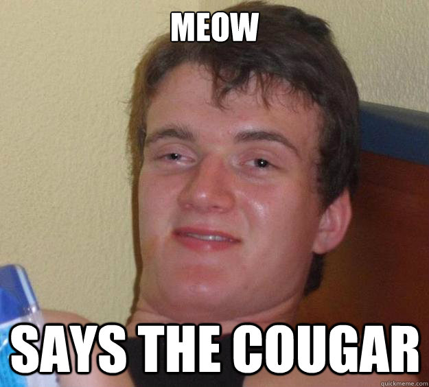 meow says the cougar - 10 Guy