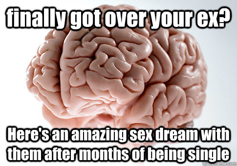 finally got over your ex heres an amazing sex dream with t - Scumbag Brain
