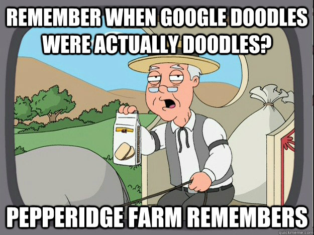 remember when google doodles were actually doodles pepperid - Pepperidge Farm Remembers