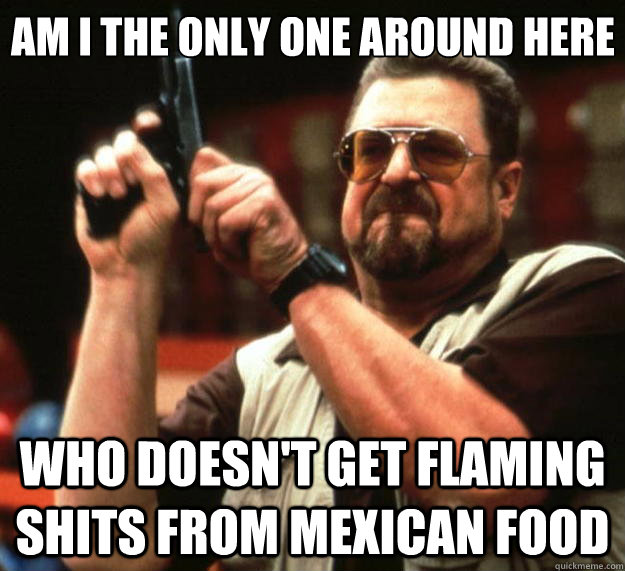 am i the only one around here who doesnt get flaming shits  - Big Lebowski
