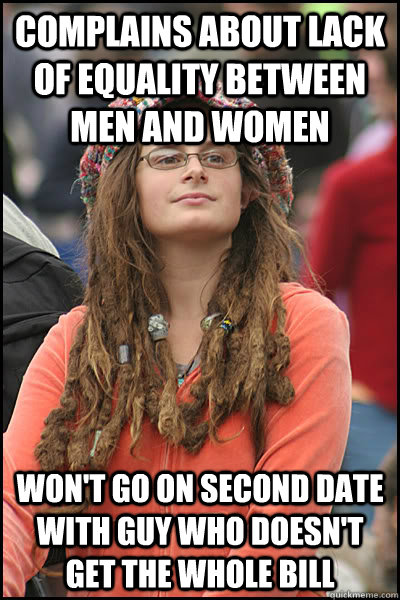 complains about lack of equality between men and women wont - College Liberal