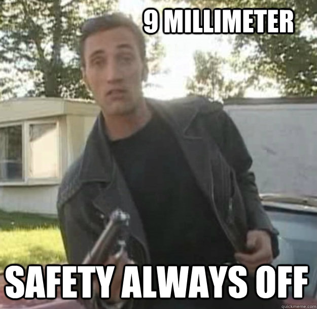9 millimeter safety always off -