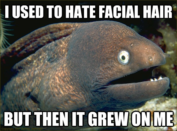 i used to hate facial hair but then it grew on me - Bad Joke Eel