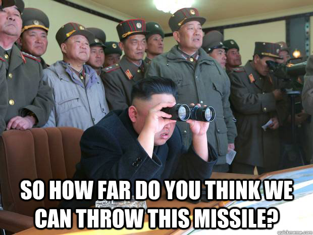 so how far do you think we can throw this missile -