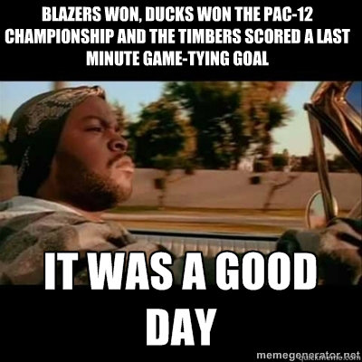 blazers won ducks won the pac12 championship and the timbe - ICECUBE