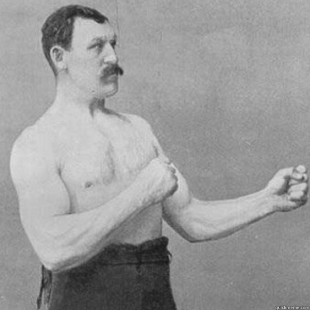 you mean an ice tan - overly manly man