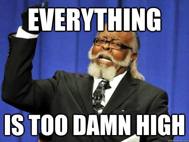 too damn high