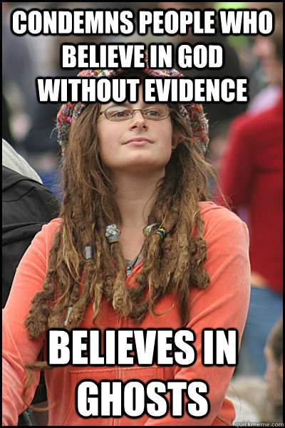 condemns people who believe in god without evidence believes - Bad Argument Hippie