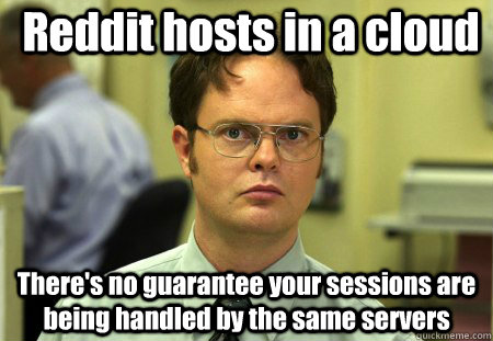 reddit hosts in a cloud theres no guarantee your sessions a - False !