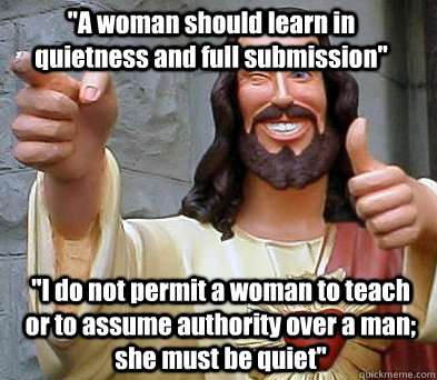 a woman should learn in quietness and full submission i d - Approval Jesus