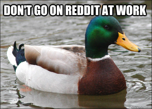 dont go on reddit at work  - Actual Advice Mallard