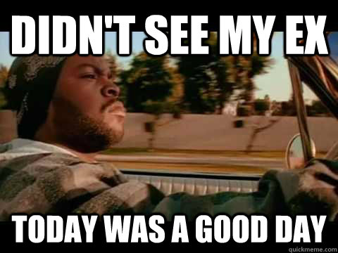 didnt see my ex today was a good day - ice cube good day