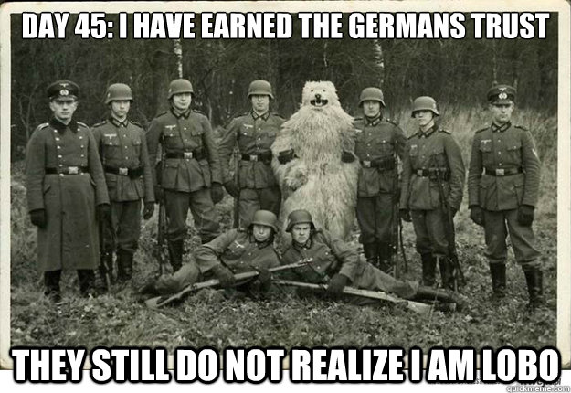 day 45 i have earned the germans trust they still do not re - 