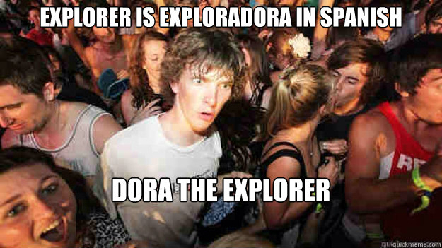explorer is exploradora in spanish dora the explorer - Sudden Clarity Clarence