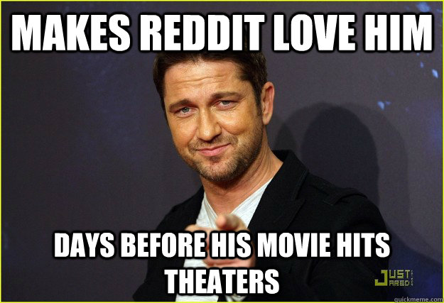 makes reddit love him days before his movie hits theaters -