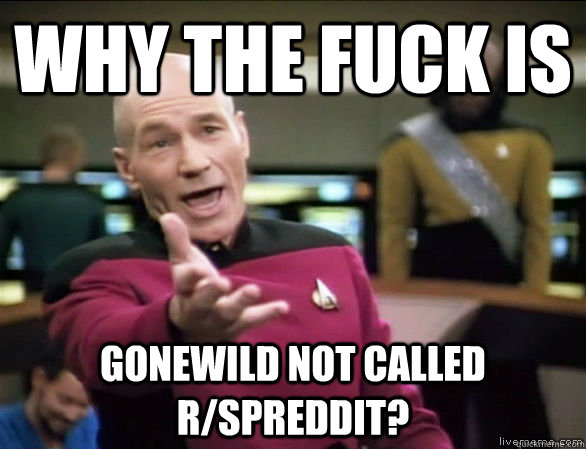 why the fuck is gonewild not called rspreddit - Annoyed Picard HD