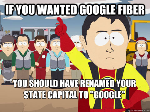 if you wanted google fiber you should have renamed your stat - Captain Hindsight