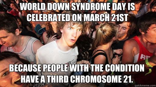 world down syndrome day is celebrated on march 21st because - Sudden Clarity Clarence
