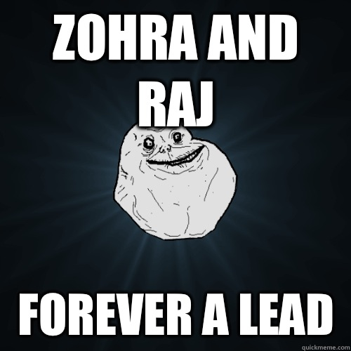 Zohra and Raj Forever a lead  - Forever Alone