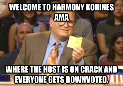 welcome to harmony korines ama where the host is on crack an - Whose Line Is It Anyway Meme