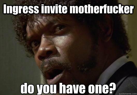 ingress invite