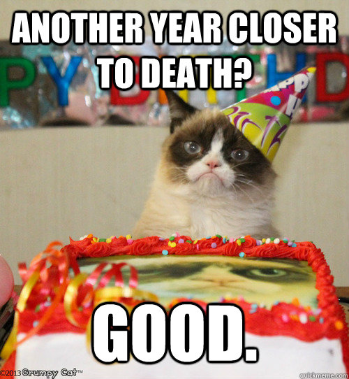 Happy birthday grumpy cat teaser friskies party mix cat treats happy birthday grumpy cat bookmarktalkfo Image collections