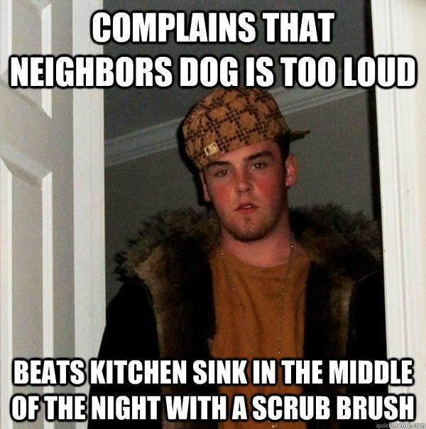 Kitchen Sink Jokes: COMplains That Neighbors Dog Is Too Loud Beats Kitchen