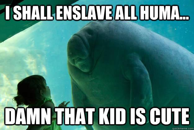 overlord manatee meme