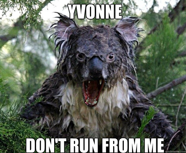 YVONNE DON'T RUN FROM ...