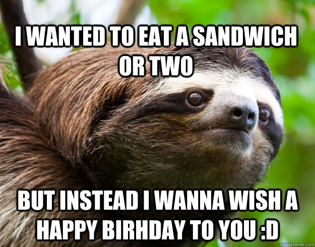 Happy birthday sloth meme - photo#10