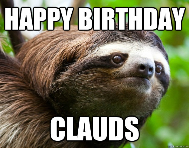Happy birthday sloth meme - photo#53