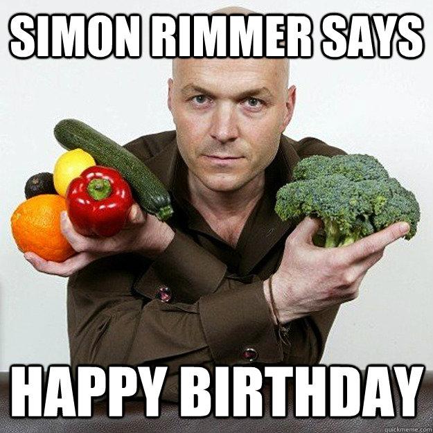Simon Rimmer Says Happy Birthday