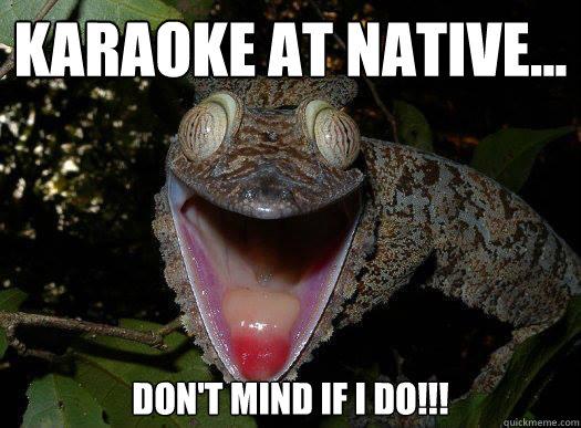 Funny Karaoke Memes : Karaoke at native dont mind if i do tgif