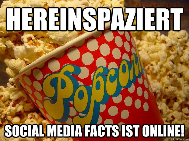 Hereinspaziert, social media #facts ist online!