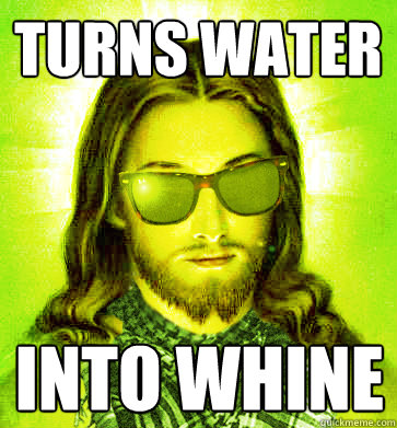 water into whine