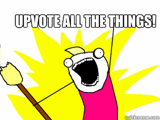 upvote all the things - All The Things