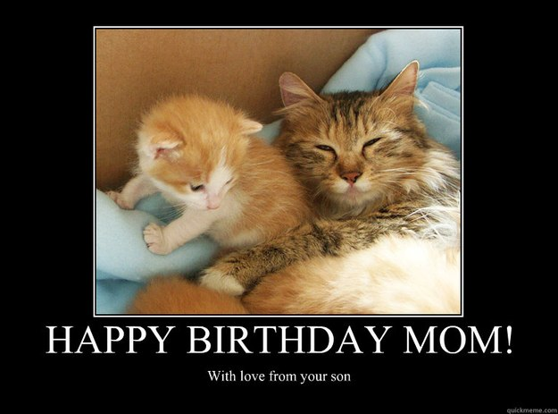 Happy Birthday Mom Meme Funny : Happy birthday mom with love from your son motivational