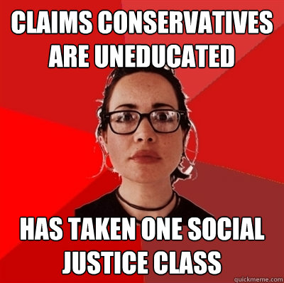 uneducated liberal