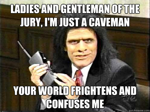 Image result for caveman lawyer