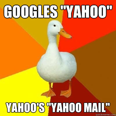 googles yahoo yahoos yahoo mail - Tech Impaired Duck