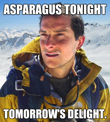 asparagus tonight tomorrows delight - Bear Grylls