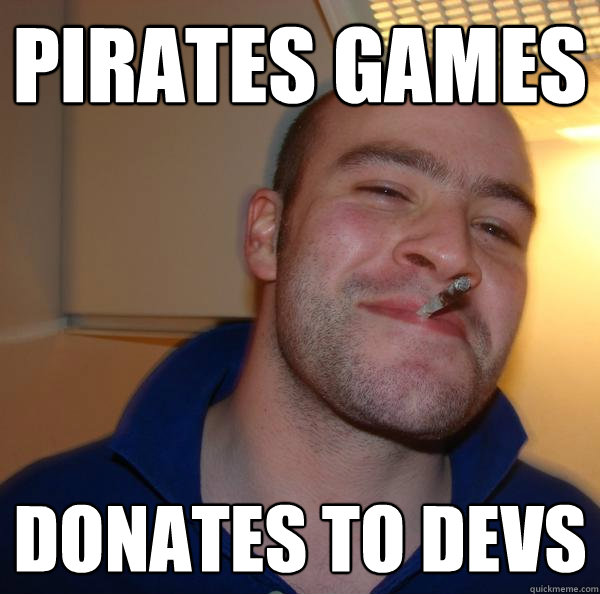 pirates games donates to devs - Good Guy Greg