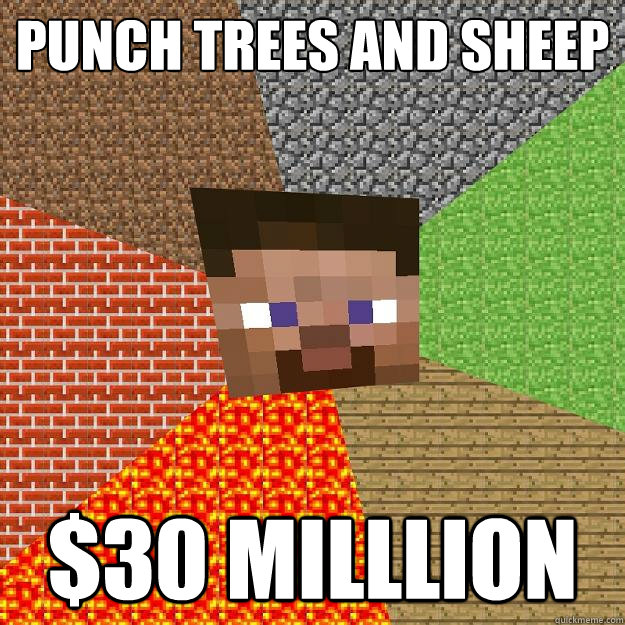 punch trees and sheep 30 milllion - Minecraft