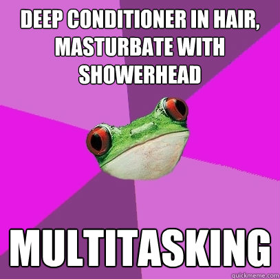 deep conditioner in hair masturbate with showerhead multita - Foul Bachelorette Frog