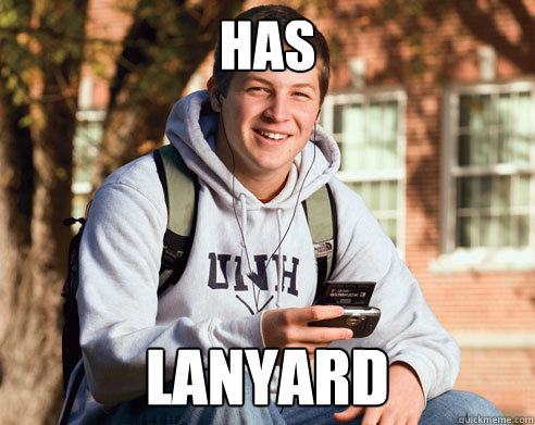 has lanyard - College Freshman