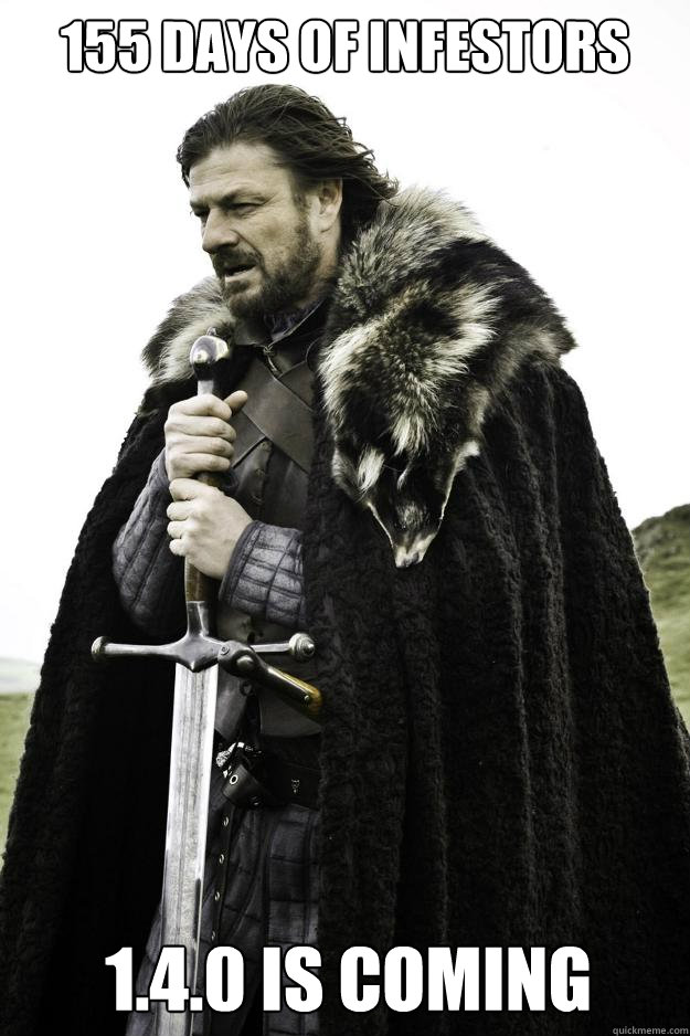 155 days of infestors 140 is coming - Winter is coming