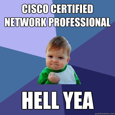 cisco certified network professional hell yea - Success Kid