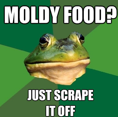 moldy food just scrape it off - Foul Bachelor Frog